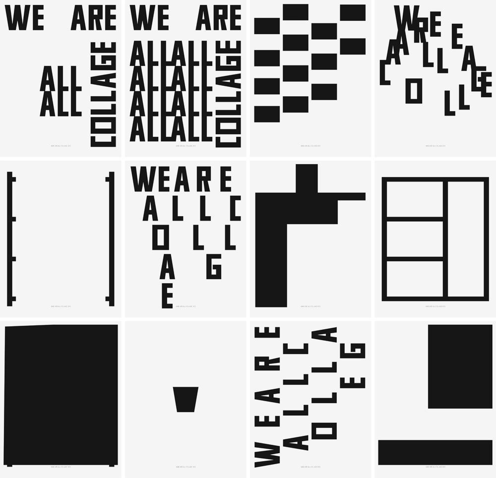 We Are All Collage, RWH Studio, Poster Design